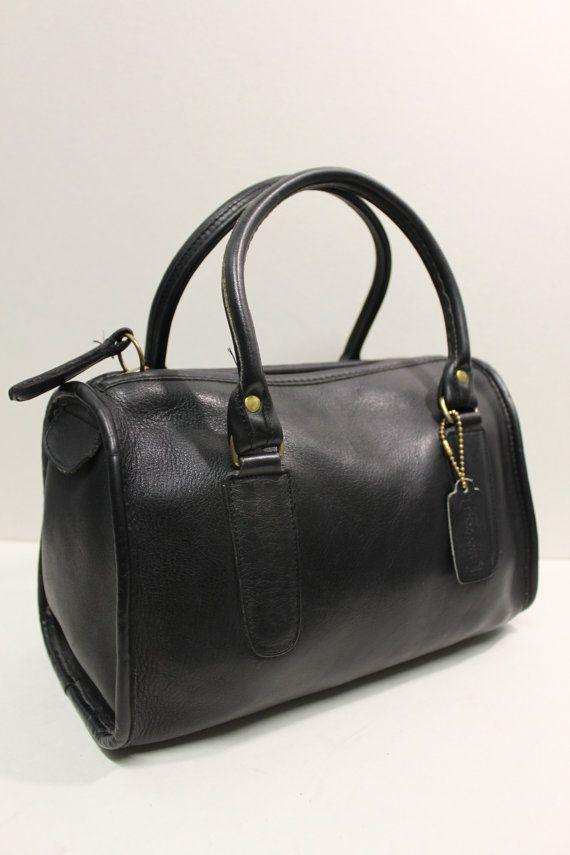 e07b5e2623ec Vintage COACH Black Leather MADISON Speedy by CultureCreature ...