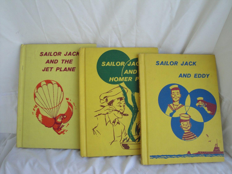 Sailor Jack Series Books 60s Childrens Collector Books 3 Book Set Selma And Jack Wassermann Free Ship 55 00 Via Et Great Teacher Gifts Book Set Sailor Jack