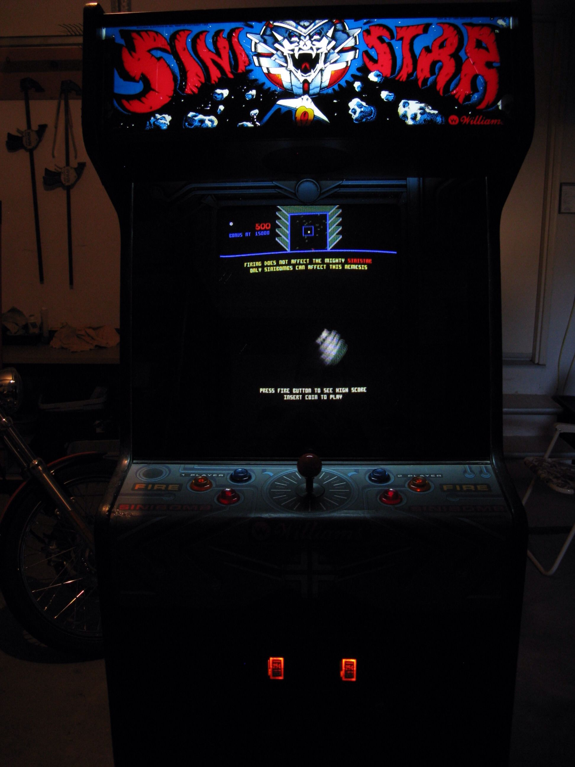 Another great arcade game: Sinistar... Run coward! | Vintage Toys ...