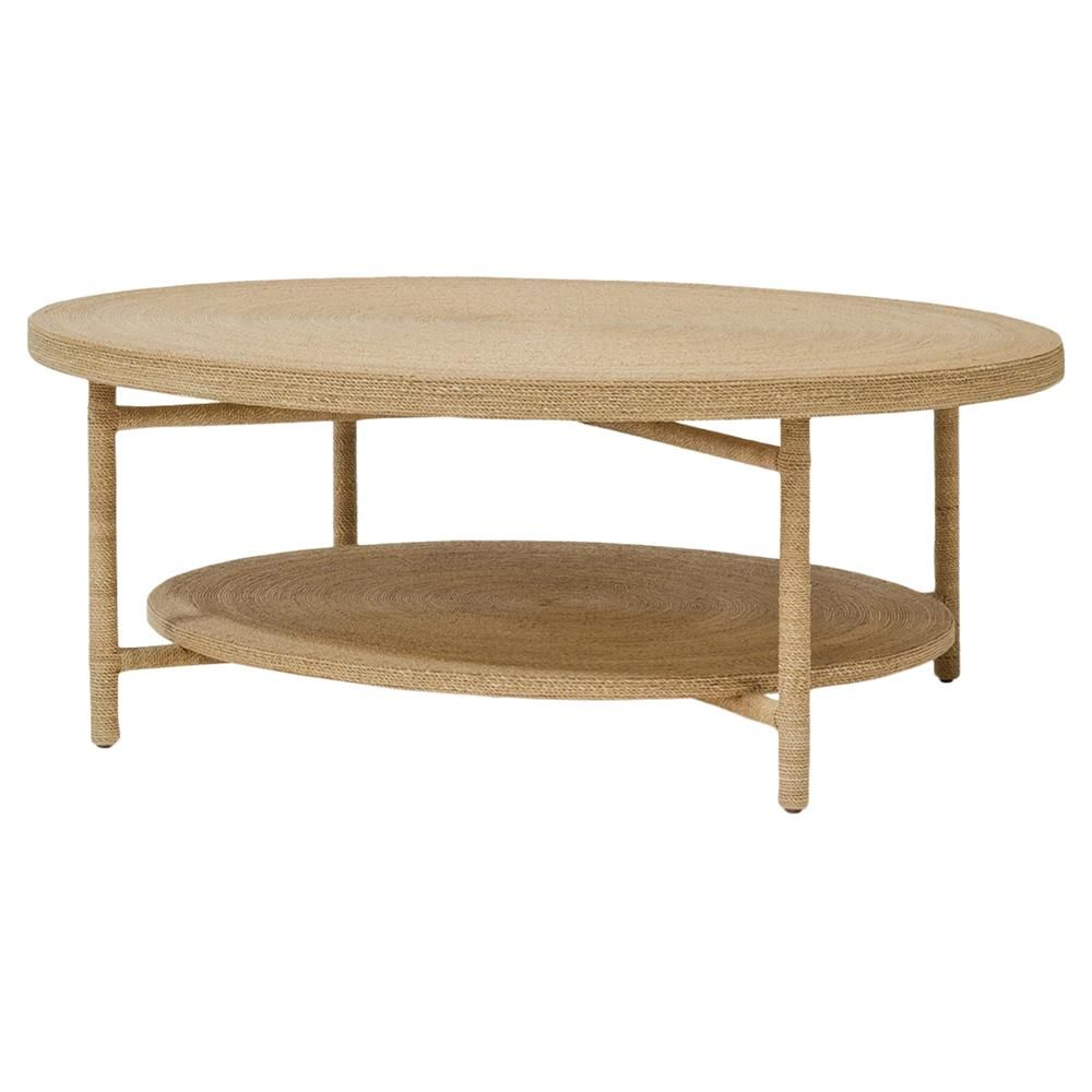 Palecek Monarch Coastal Wrapped Rope Seagrass Round Coffee Table | Coffee table, Contemporary ...