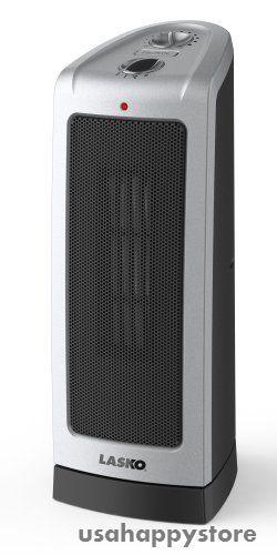 Lasko Ceramic Tower Heater Oscillating Portable 16 Inch Floor Stand Home Winter Tower Heater Space Heater Lasko