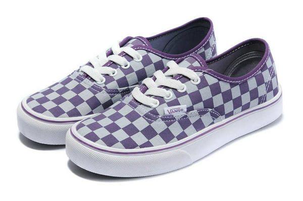 Vans Chaussures De Sport Authentique De Checkboard - Rose Et Violet wW4OD9z