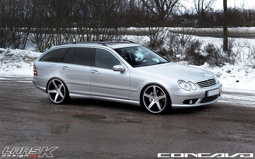 My Old C55 Amg On 20 Inch Concavo Wheels Mercedes Benz