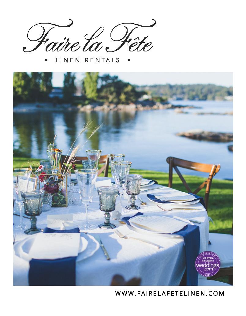 Faire La Fete Linen Rentals Luxury Bespoke Linen Rentals Vancouver Vancouver Island Weddings Mother Daughter Team Fa West Coast Wedding Wedding Magazine