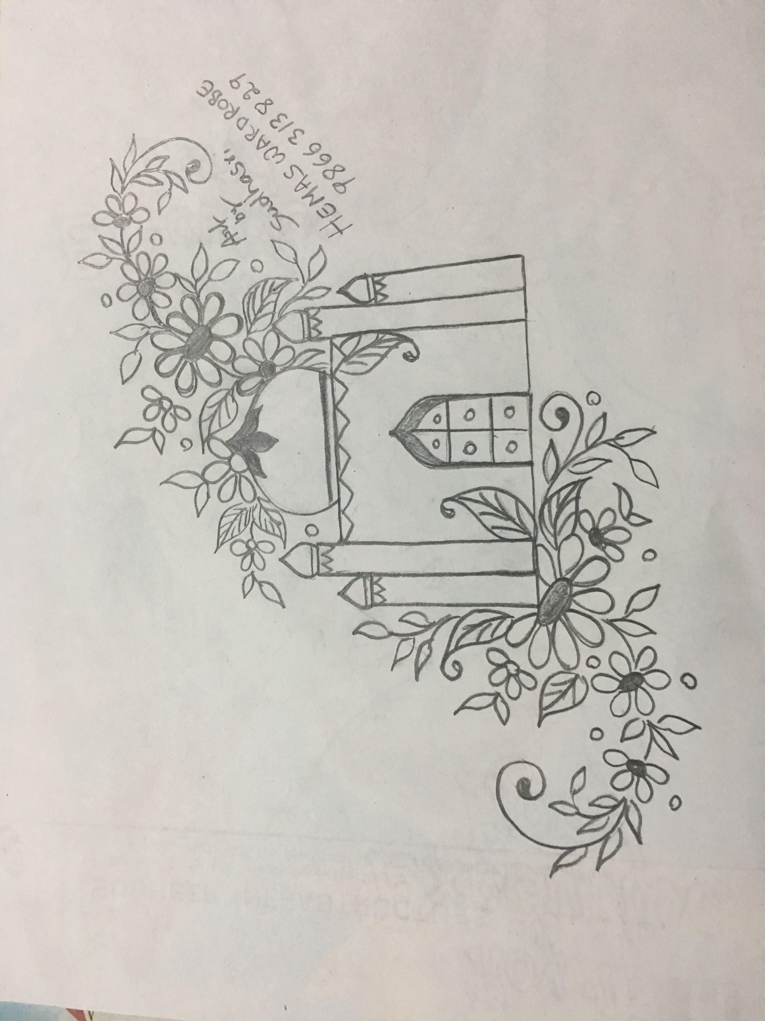 Sudhasri Hemaswardrobe Pencil Design Embroidery Designs
