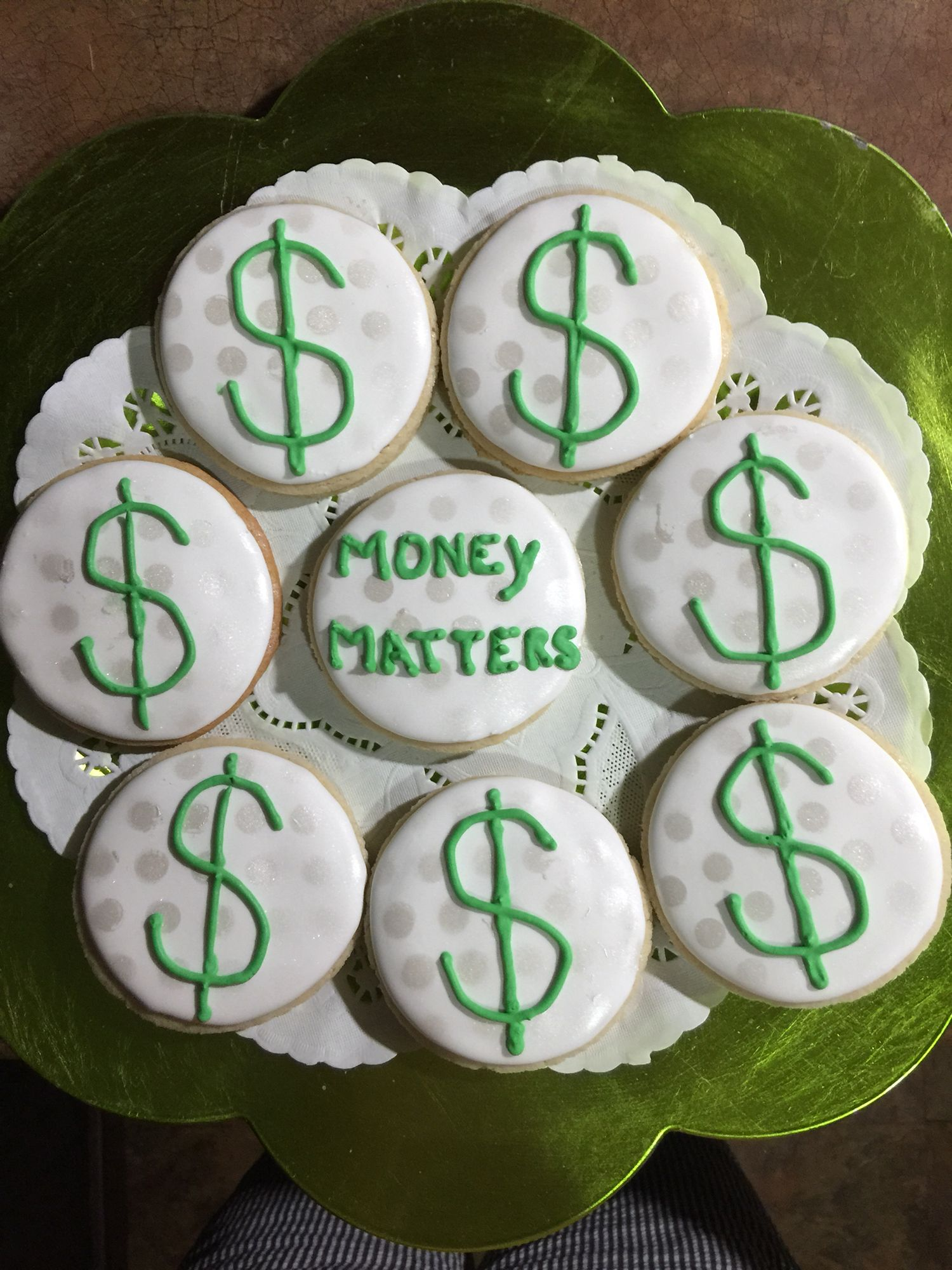 Dollar Sign Cookies Money Matters