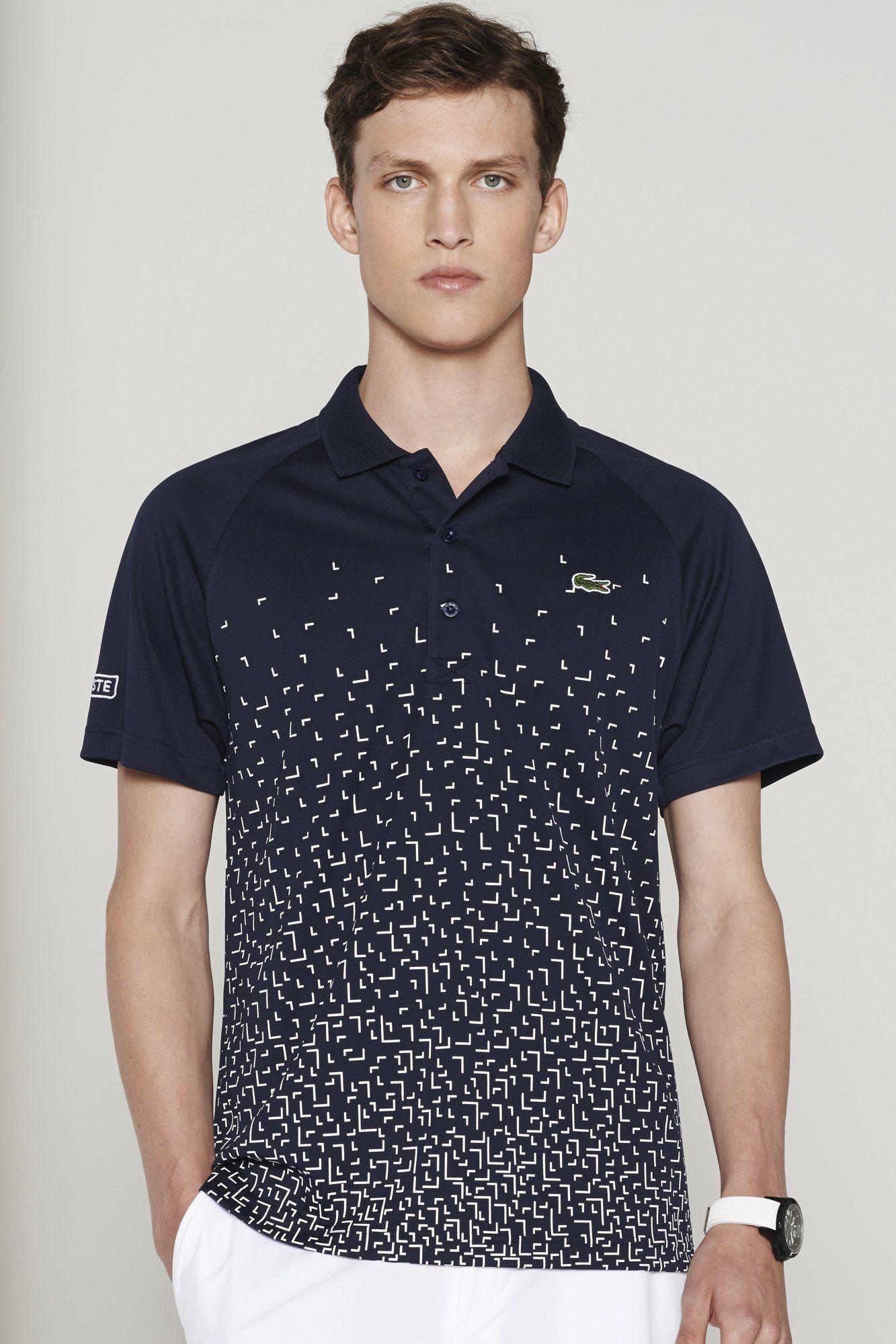 90ee8cb668e4 Lacoste Ultra Dry Printed Polo   Polo Shirts