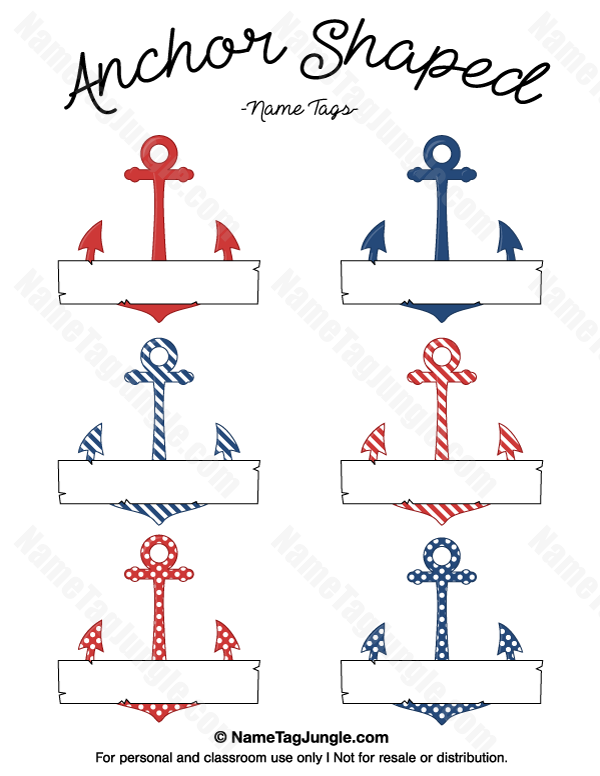 Free printable anchorshaped name
