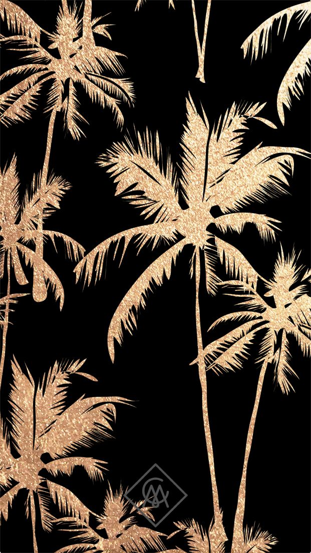 Glitter palm tree wallpaper for your iphone or android casimodanl for more phone wallpapers - Palm tree wallpaper for android ...