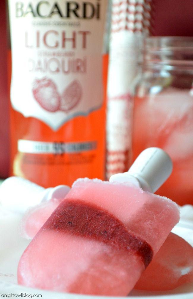 BACARDI Strawberry Daiquiri Popsicles