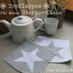 Photo of Häkelanleitung für Topflappen mit Stern, kostenlos – Freuleins   Schnittmuster + Nähanleitung