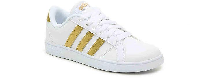 Girls Baseline Toddler & Youth Sneaker #gold#top#stripes ...