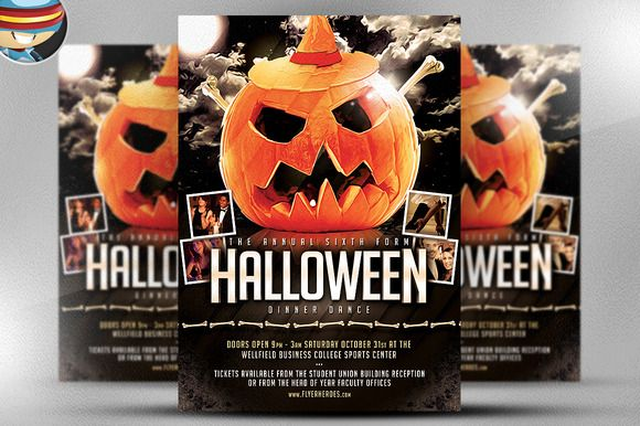 halloween party flyer template flyer templates on creative market