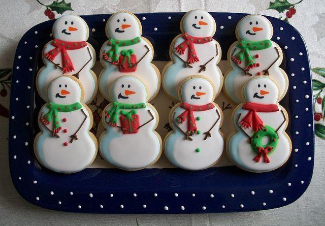 Snowman Cookies - by Brenda's Cakes Ohio.