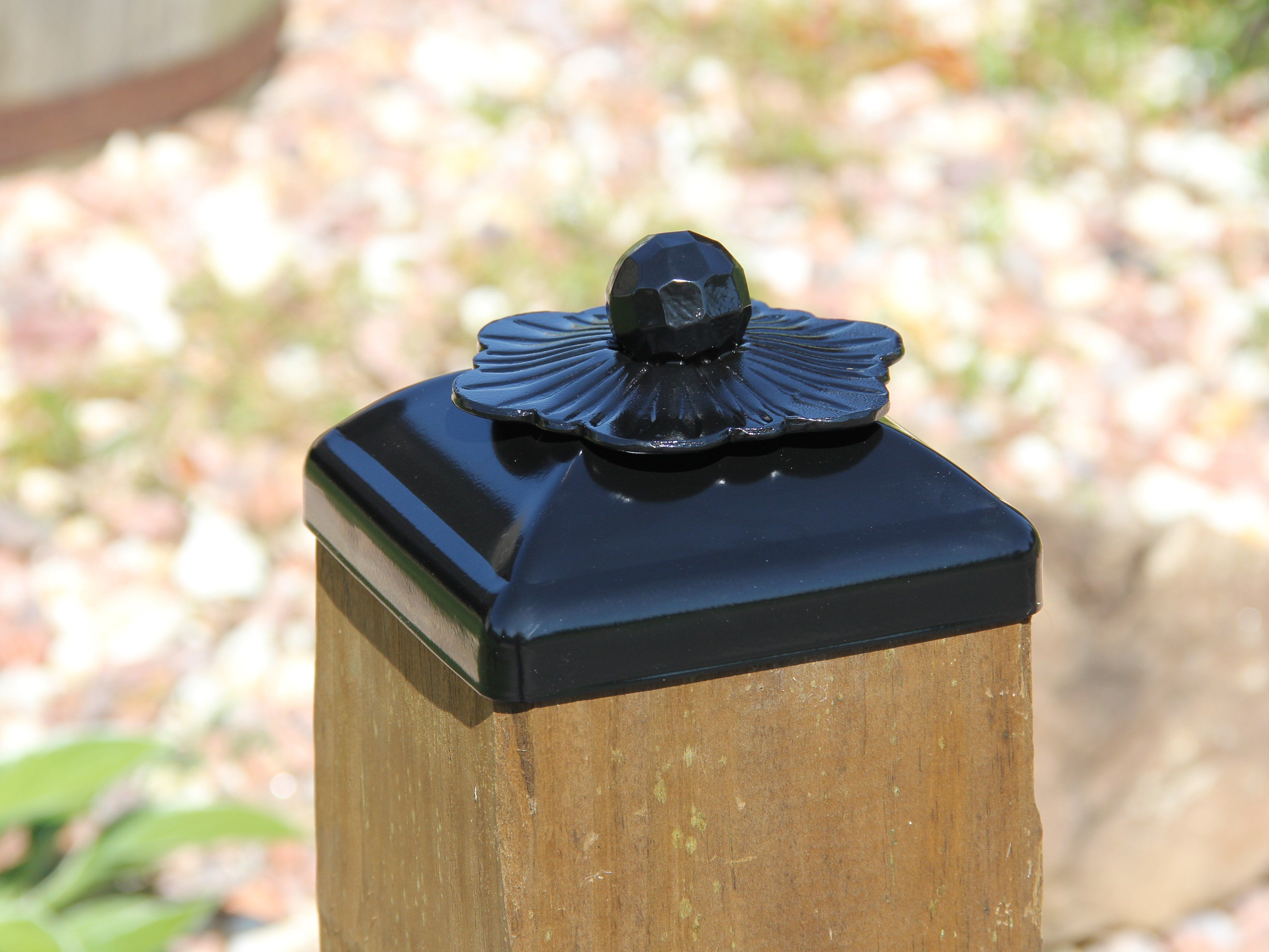 6x6 Post Cap for Wood Post Flower Rosette Fence Top