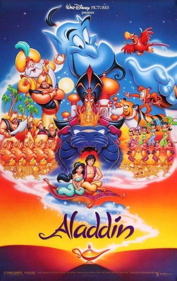 Image result for aladdin 1992 original poster