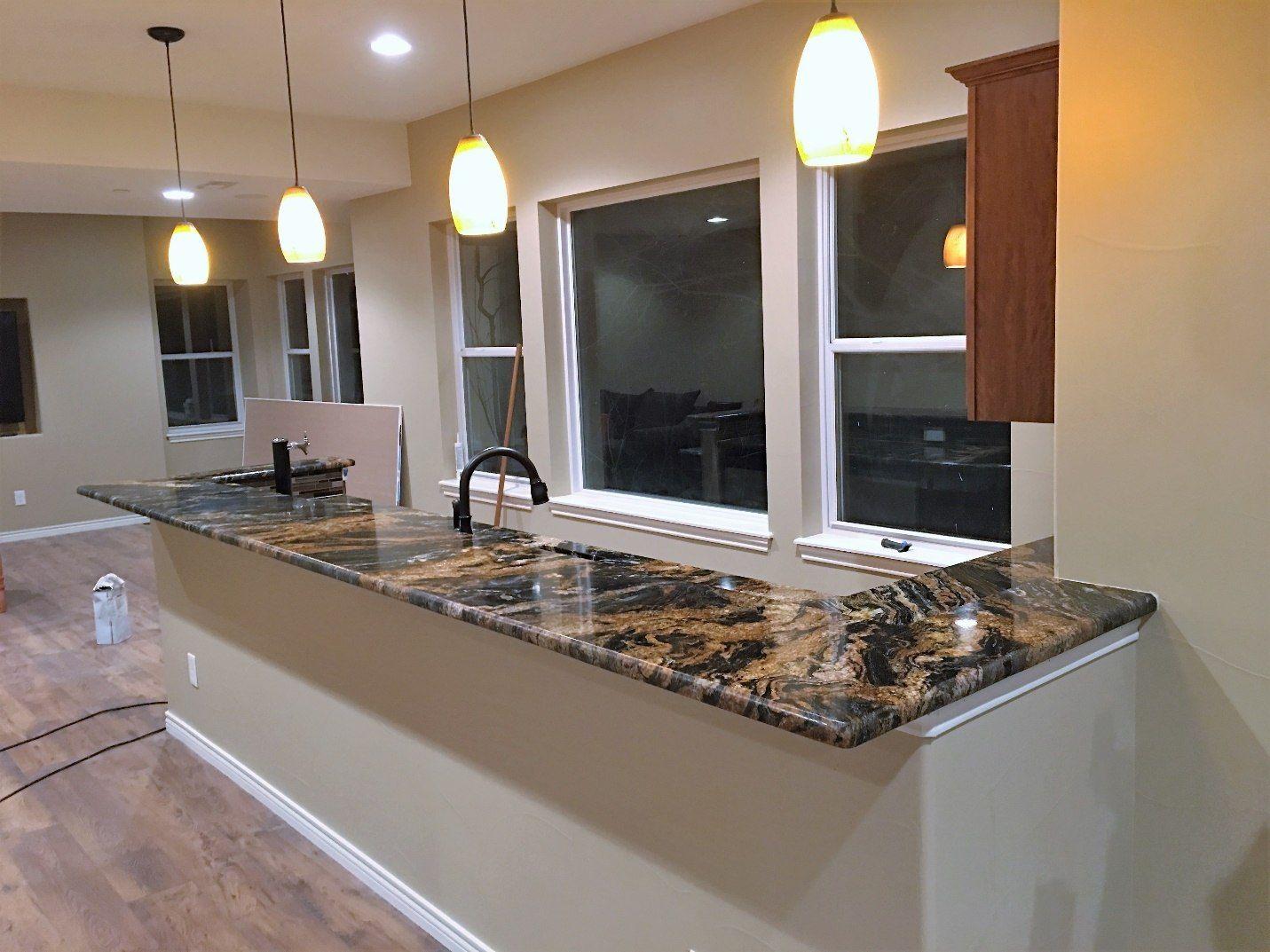 Kitchen Volcano Granite Install