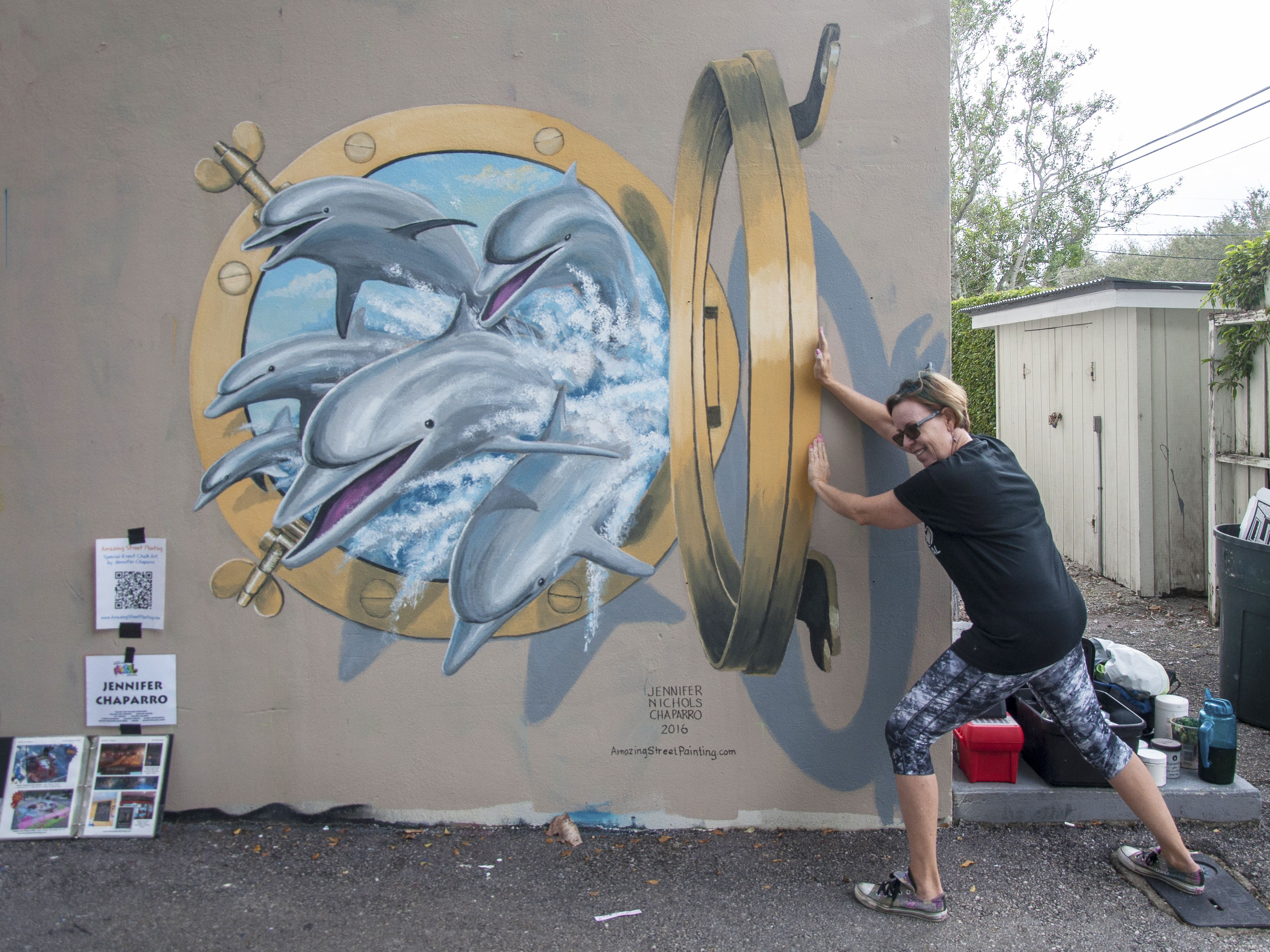 dolphin portal 3d mural done at back alley mural festival 2016 dolphin portal 3d mural done at back alley mural festival 2016 tequesta
