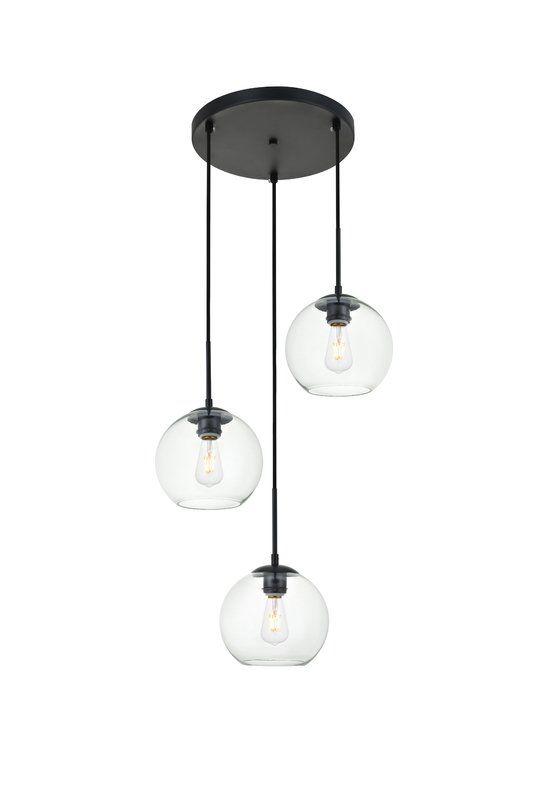 Snead 3 Light Cluster Globe Pendant Multi Light Pendant Glass Pendant Light Pendent Lighting