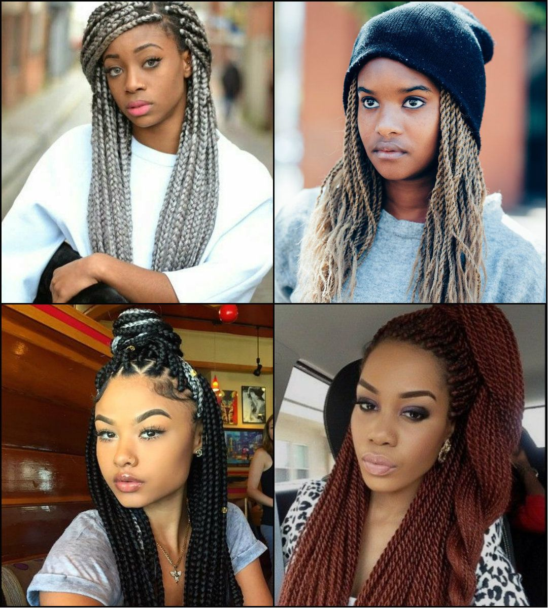 Awesome twists and black braids hairstyles black