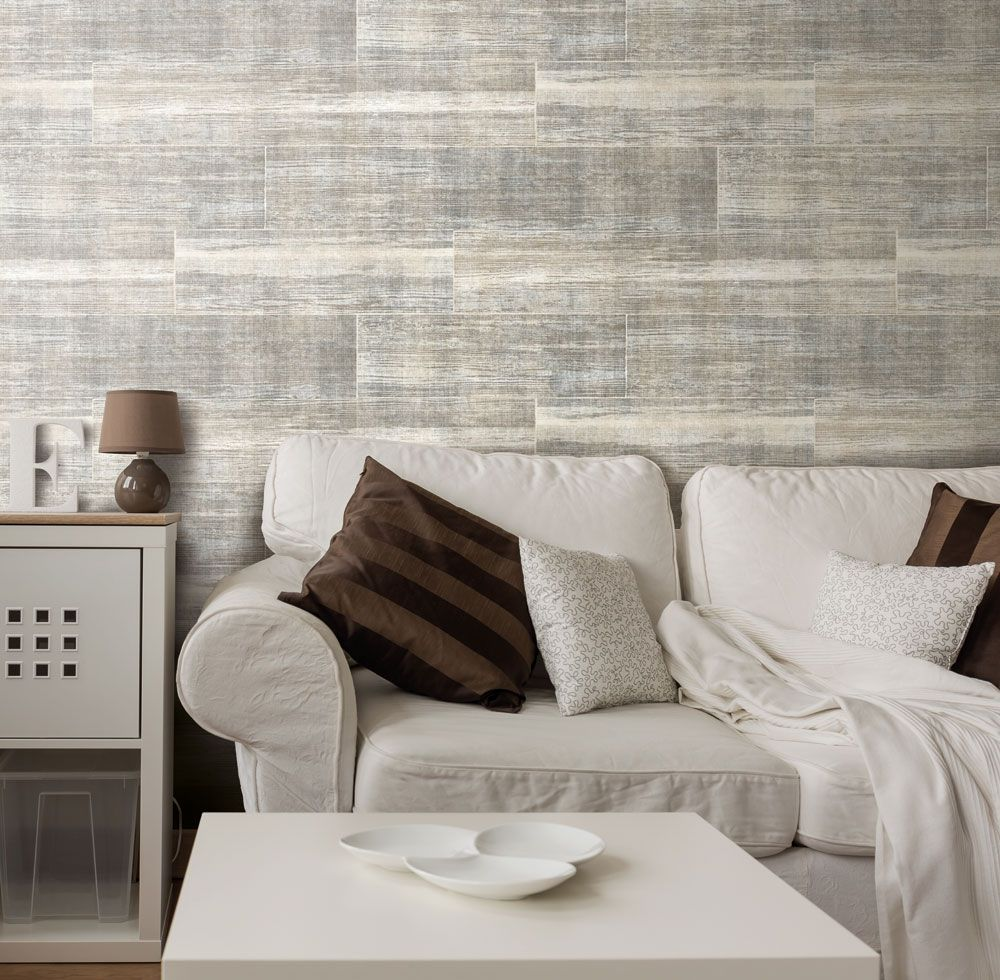 Skapa ett ombonat vardagsrum med med läcker trätapet från ...