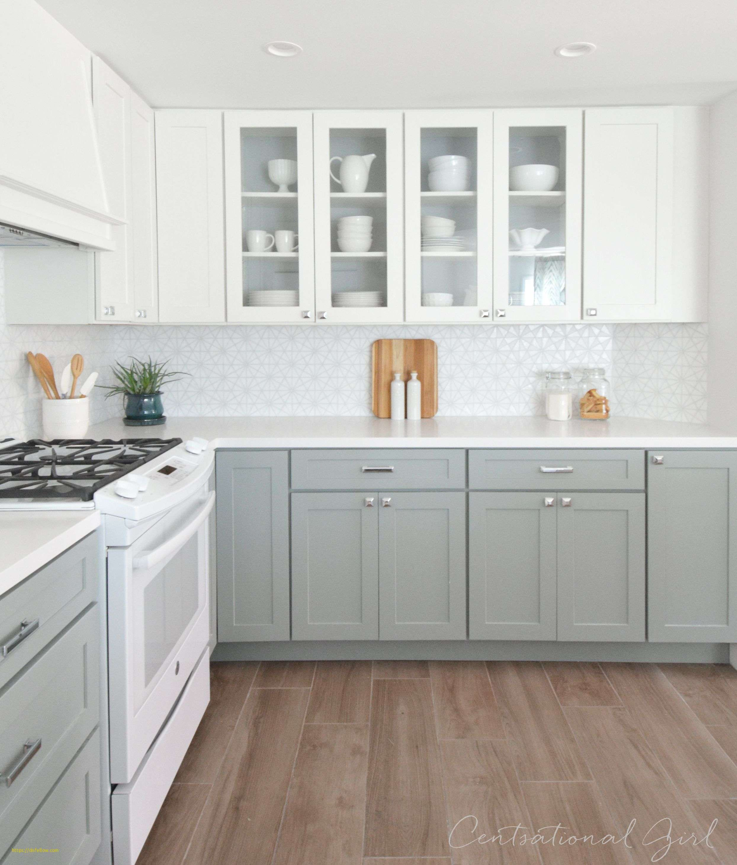 Awesome Gray Bottom Cabinets White Top Cabinets Diy Kitchen Renovation Kitchen Renovation Kitchen Cabinet Design