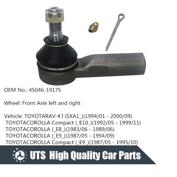 Toyota Parts Suspensions Kits Tie Rod End 45046 19175 Steering Parts Moog Oem