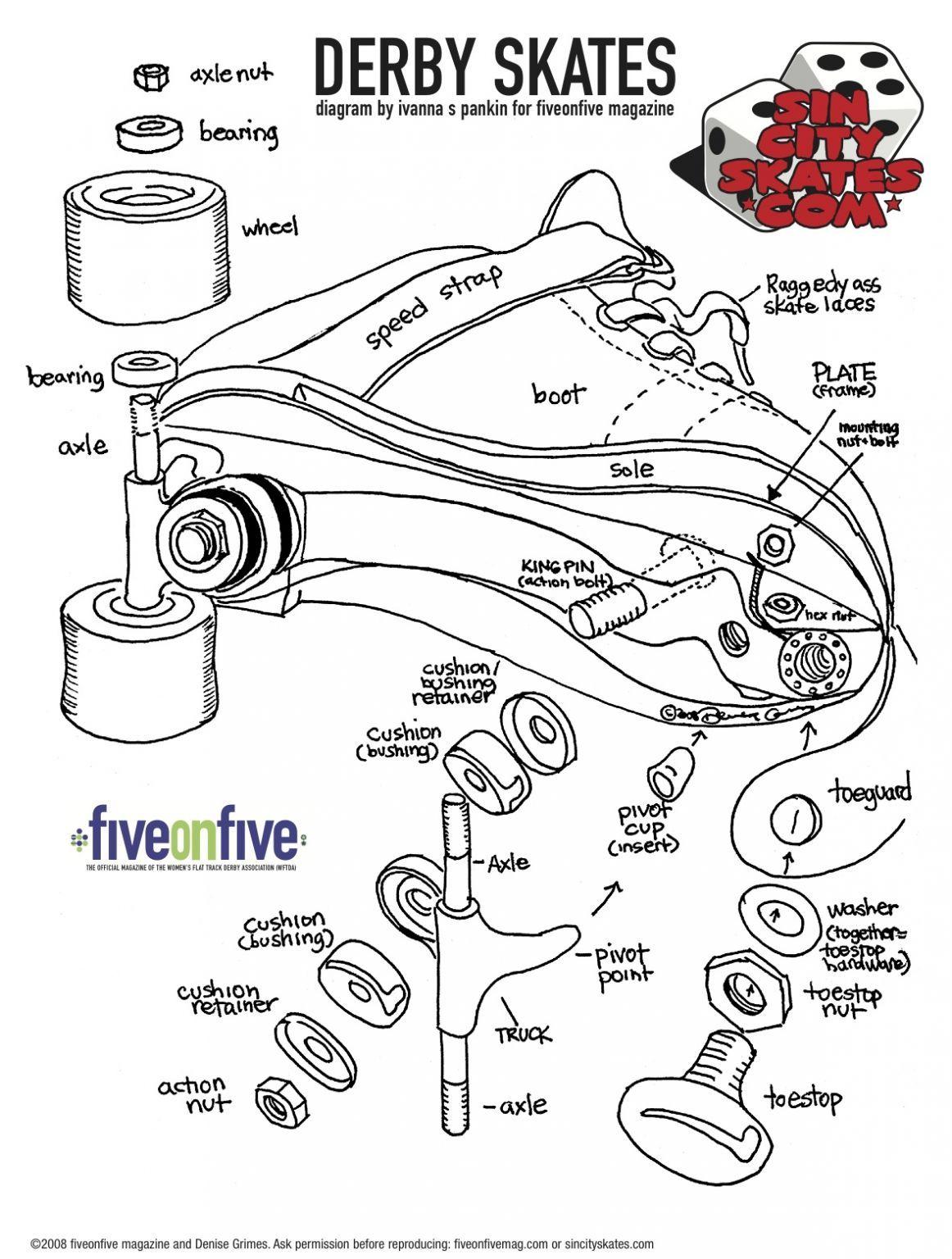 Anatomy Of A Derby Skate