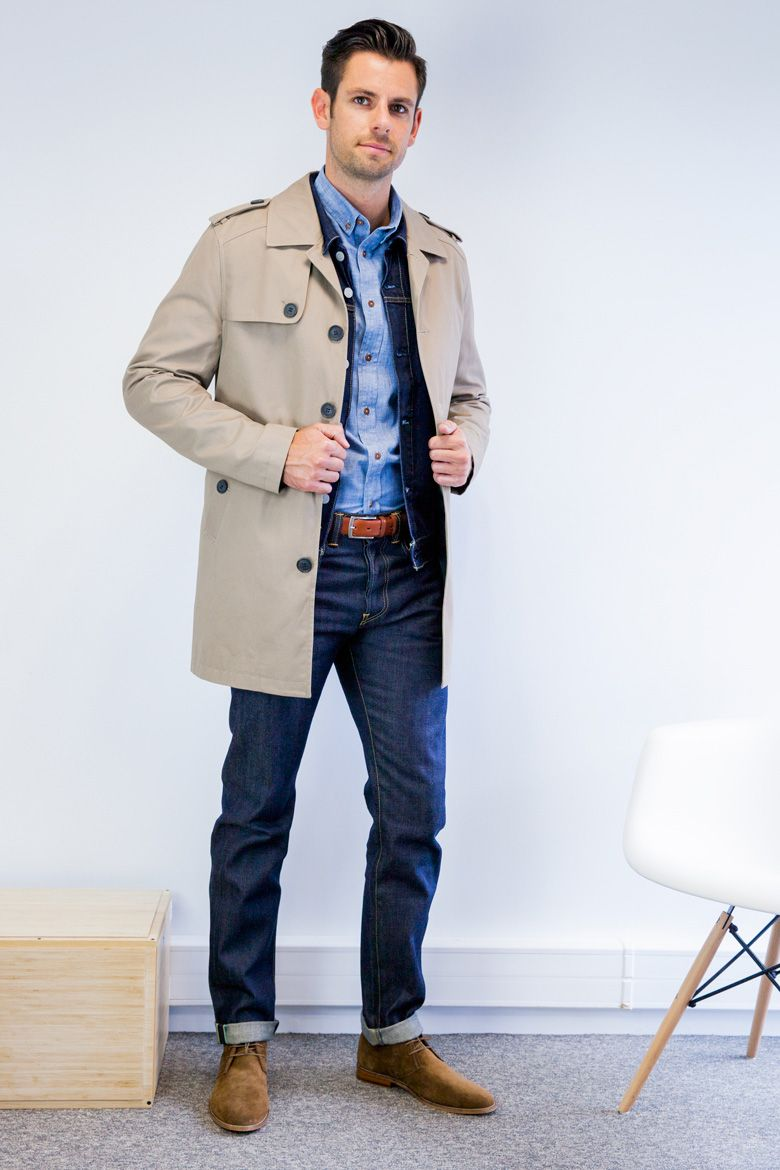 trench chemise jean   look a69cfd5f530