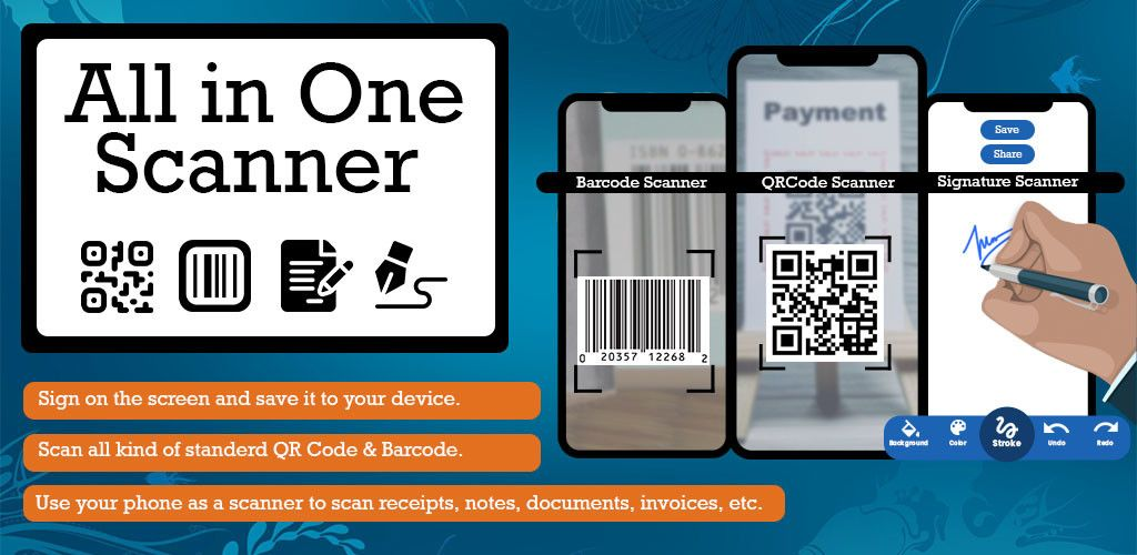 All in One Scanner QR Code, Barcode, Document v1.13 Paid