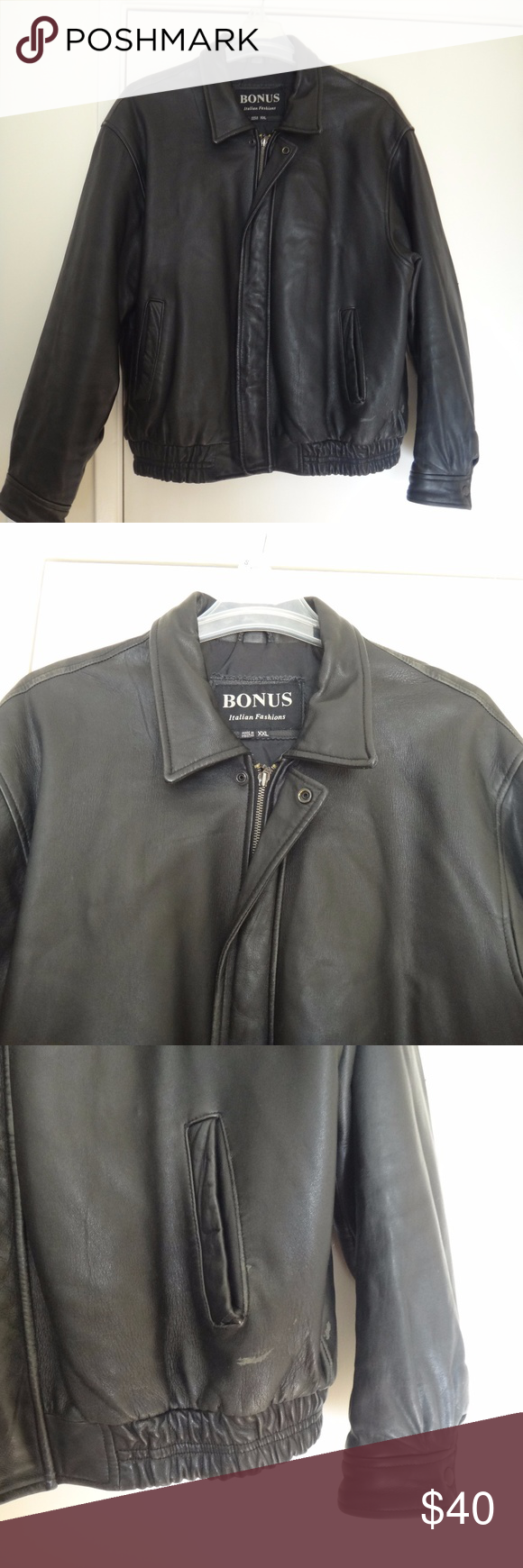 Men Bomber Motorcycle Genuine Soft Leather Jacket Pre