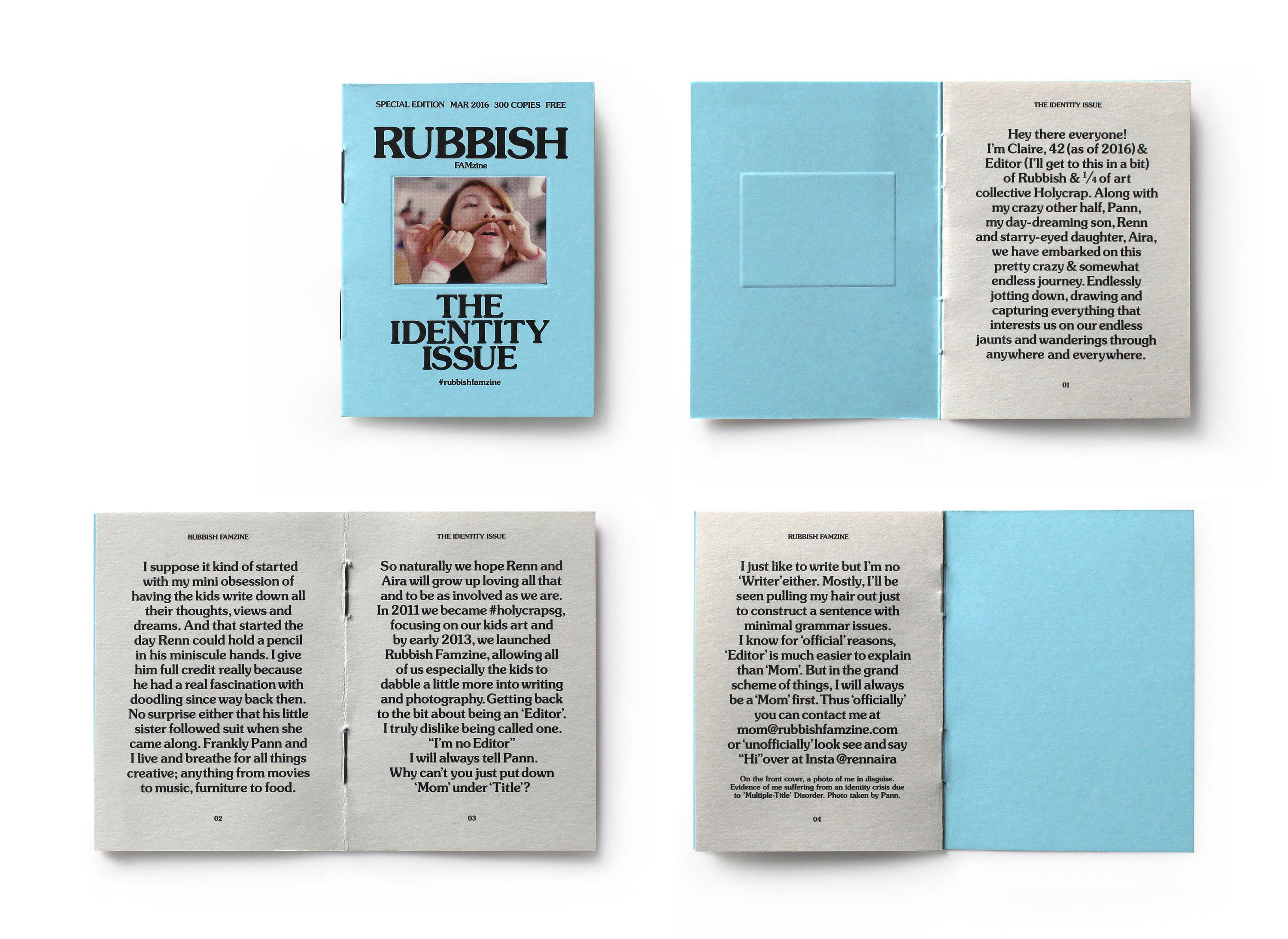 Rubbish Famzine The Identity Issue | Miniature Business Cards in ...