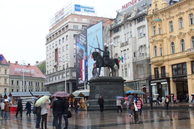 Ban Jelacic Square Zagreb Croatia Croatia City Architecture