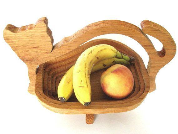 Collapsible Wooden Cat Basket Vintage Wood Fruit By Fatcatvintage