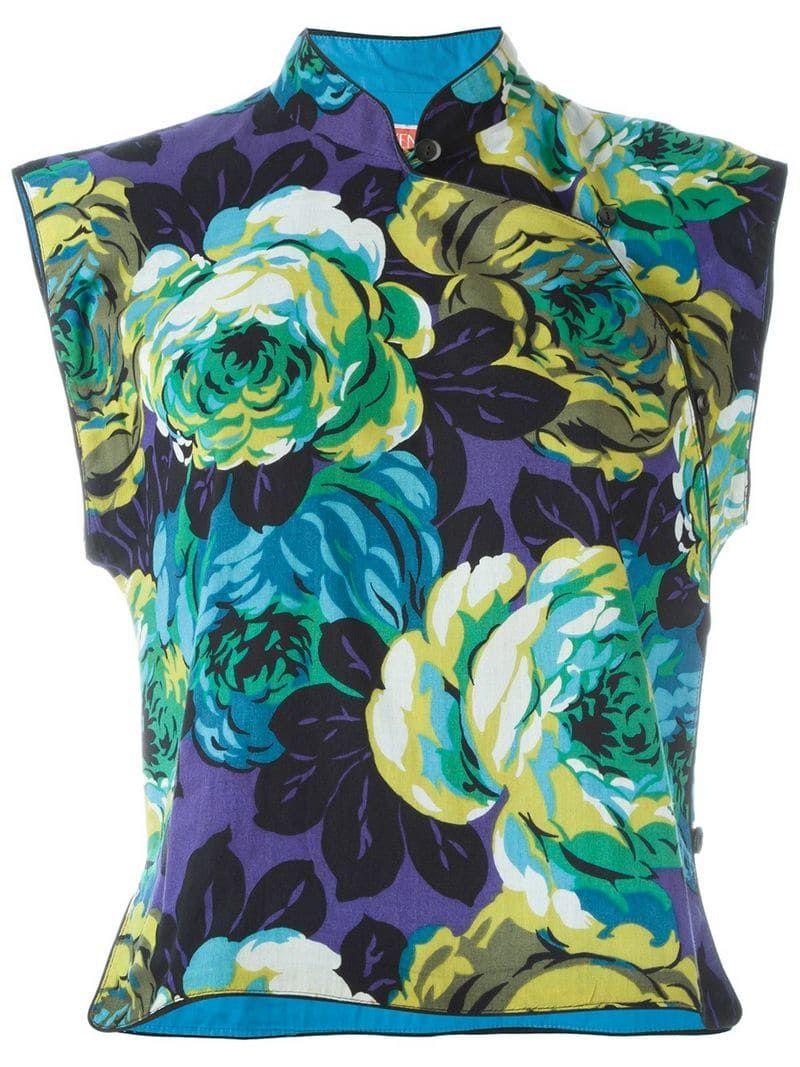 Floral print top floral prints vintage tops kenzo