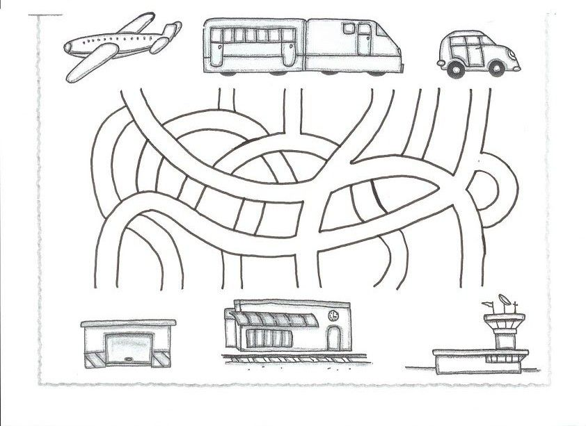 Transportation Maze Worksheet For Kids 1 Crafts And Worksheets For Preschool Toddler And K Maze Worksheet Transportation Worksheet Transportation Preschool