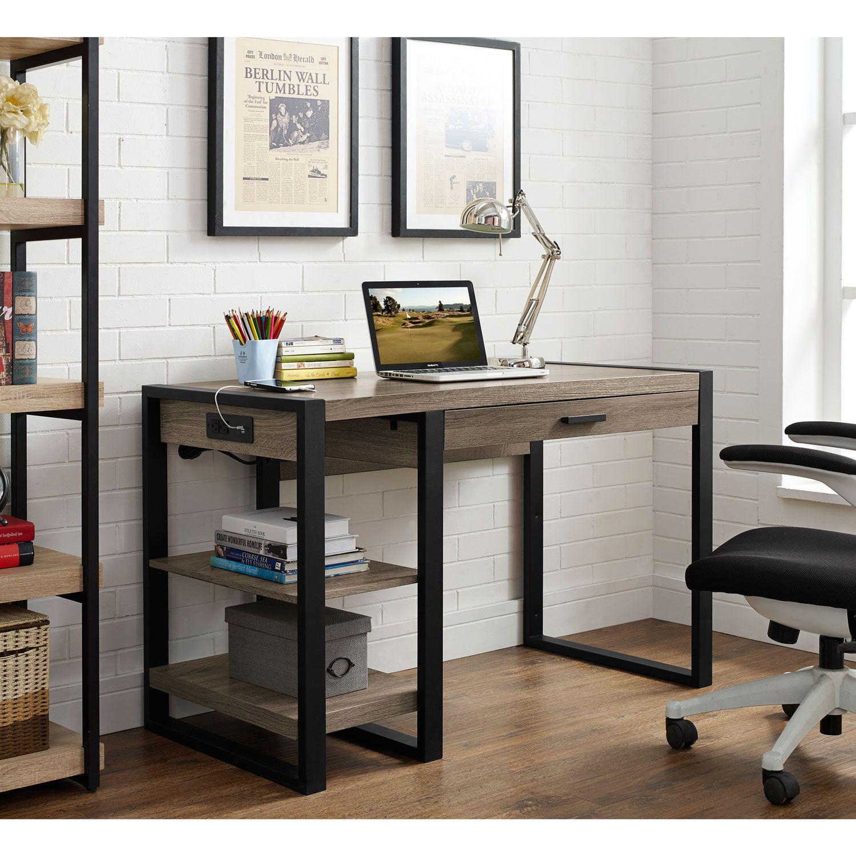 Walker Edison Furniture Co 48 Inch Urban Blend Computer Desk D48ubc30ag Bellacor In 2021 Computer Desk Desk Modern Computer Desk