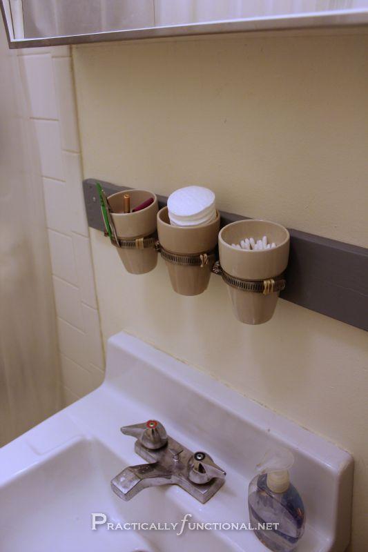 Organize Your Bathroom Diy Wall Mounted Storage Diy Bathroom Storage Tiny Bathroom Storage Diy Bathroom