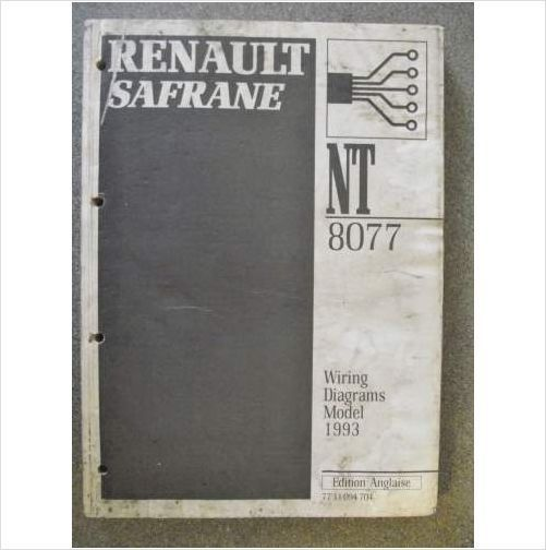Renault Safrane Wiring Diagrams Manual 1993 Nt8077