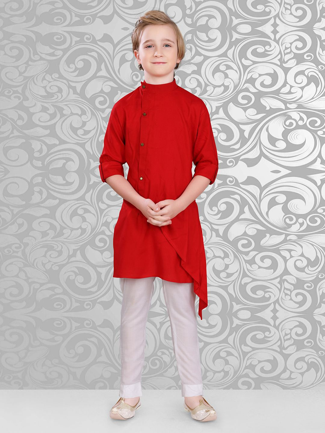 aa12b80b8fbe Red Solid Cotton Kurta Suit,Boys Pathani, Pathani Suit, Designer Kurta Suits  For Boys, Kids Kurta Suits, Bys Ethnic Collection for Pathani And Kurta  Suits
