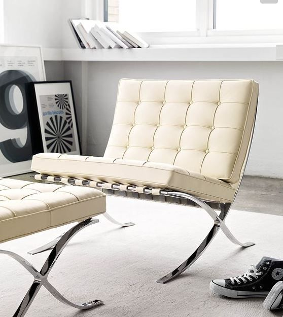 Frequently Used In Movies, Seen Adorning Hotels Or High Powered Business  Offices, The Iconic Barcelona Chair Has Been Migrating Into The Residential  Space ...