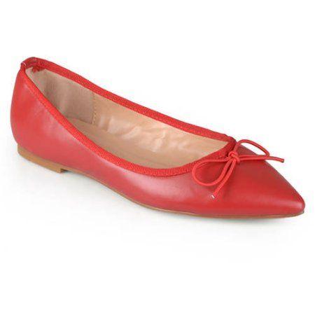 Brinley Co Womens Lena Pointed Toe Ballet Flats