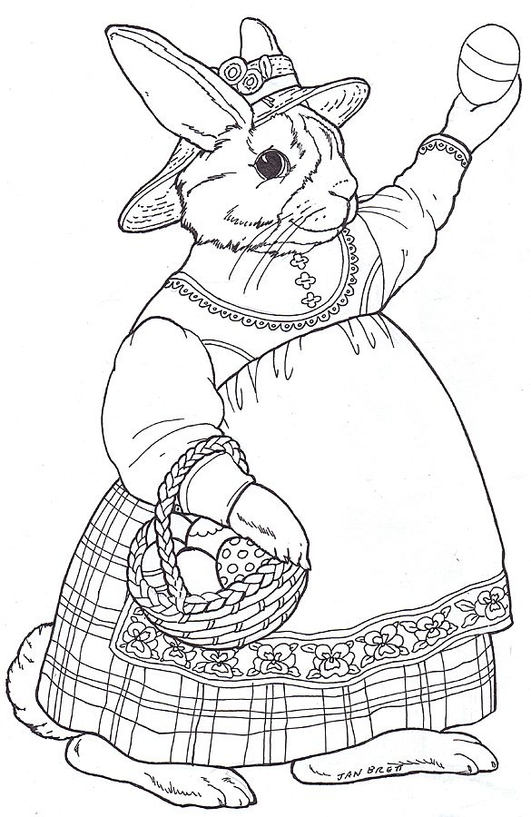 Easter Egg Mural Madeline Bunny | Coloring Pages | Pinterest ...