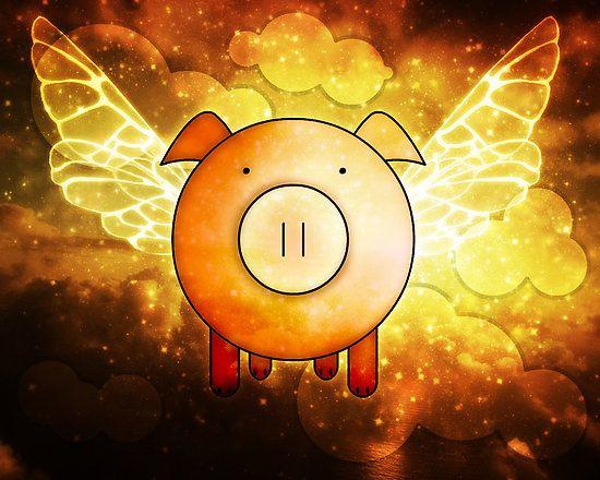 Holy smoke! A flying pig! by Hannah Gledhill