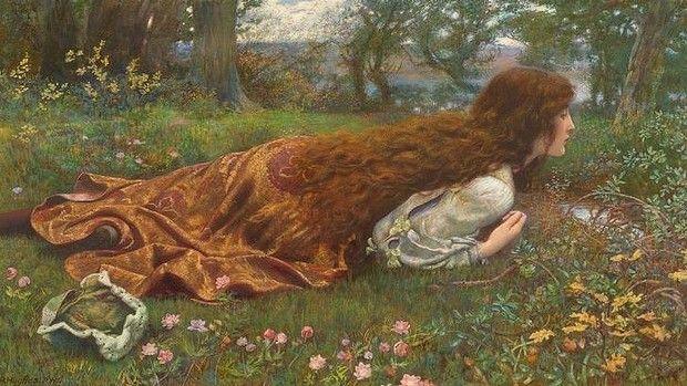 The princess out of school, circa 1901, by Edward Robert Hughes.
