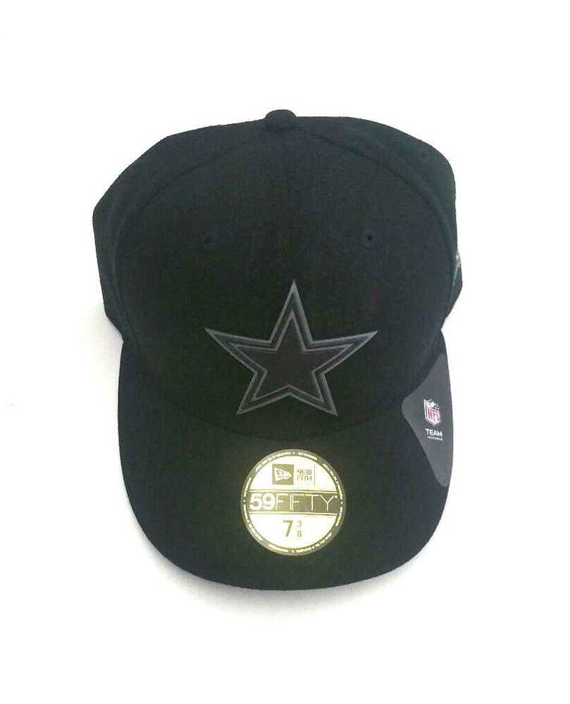 New Era Dallas Cowboys 59Fifty NFL Hex-Shine Black Team Fitted Hat Size 7  3 8  NewEra  BaseballCap  DallasCowboys 3638a71f28f3