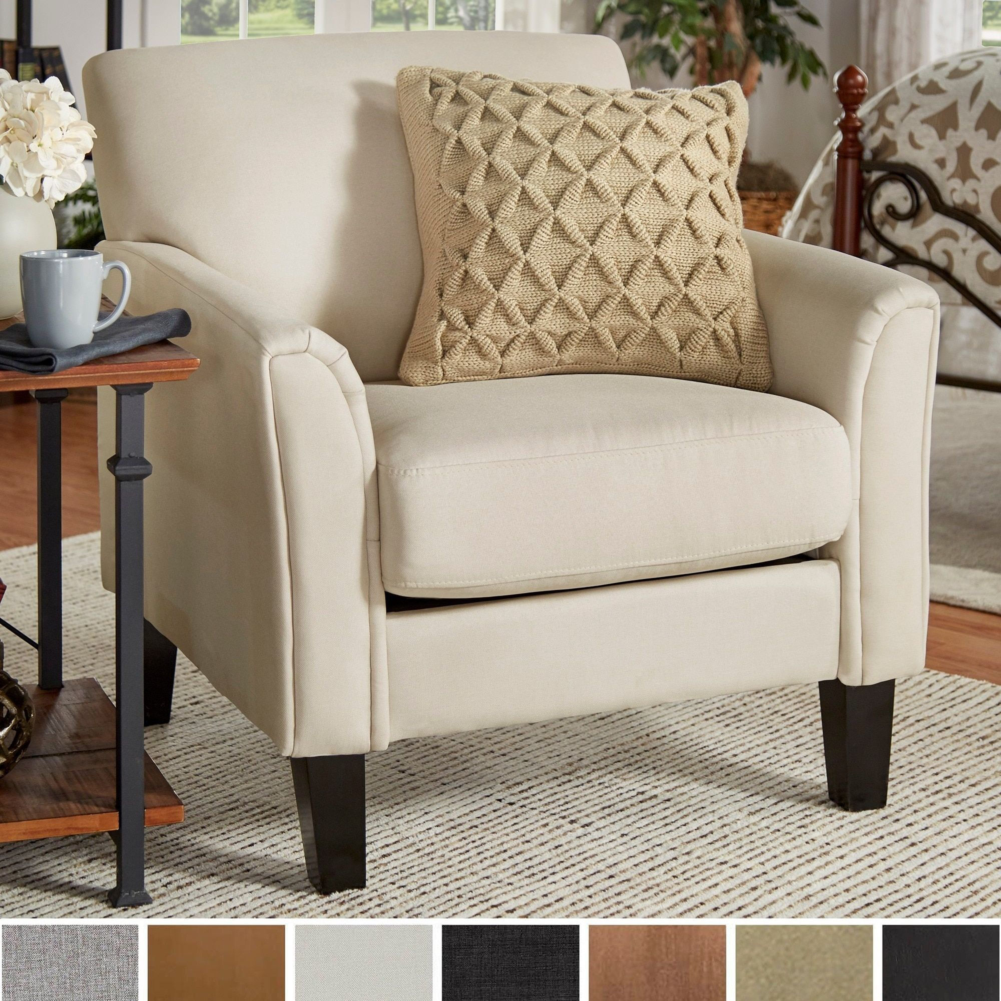 Tribecca Home Uptown Modern Accent Chair  Overstock Shopping New Overstock Living Room Chairs Decorating Design