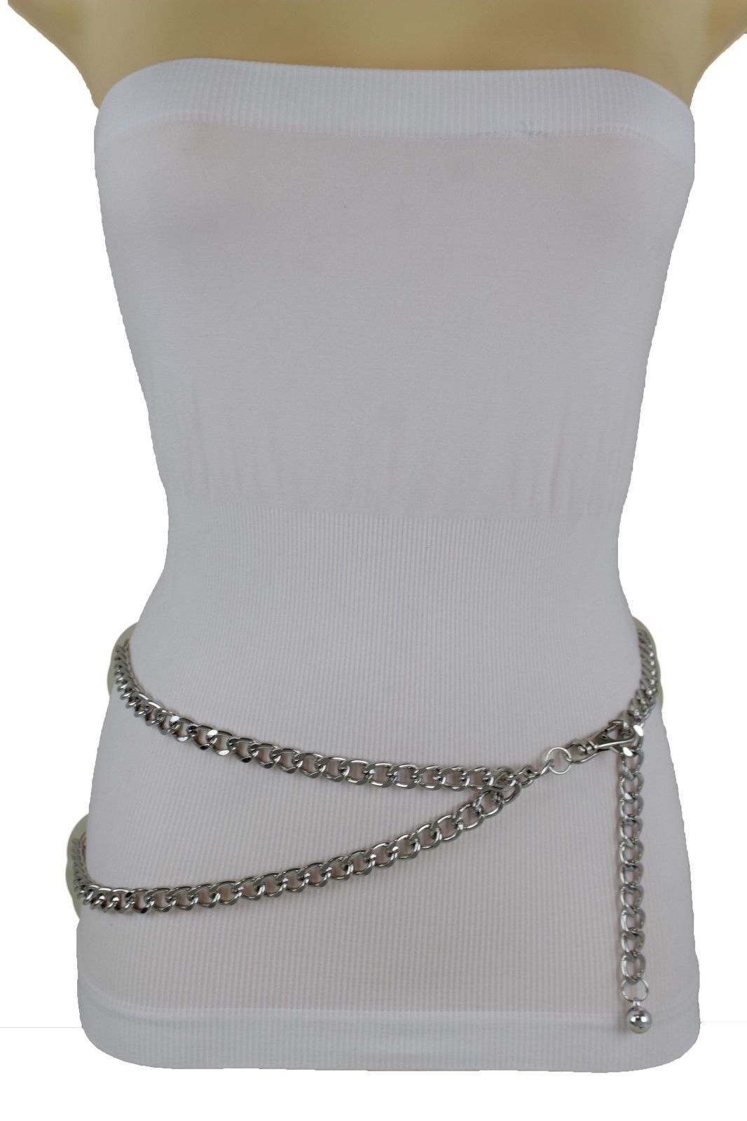 7bc1c9a19006 Black Silver Gold Hot Women Belt Metal Chain Links Hip Waist New Biker Punk  Fashion Accessories