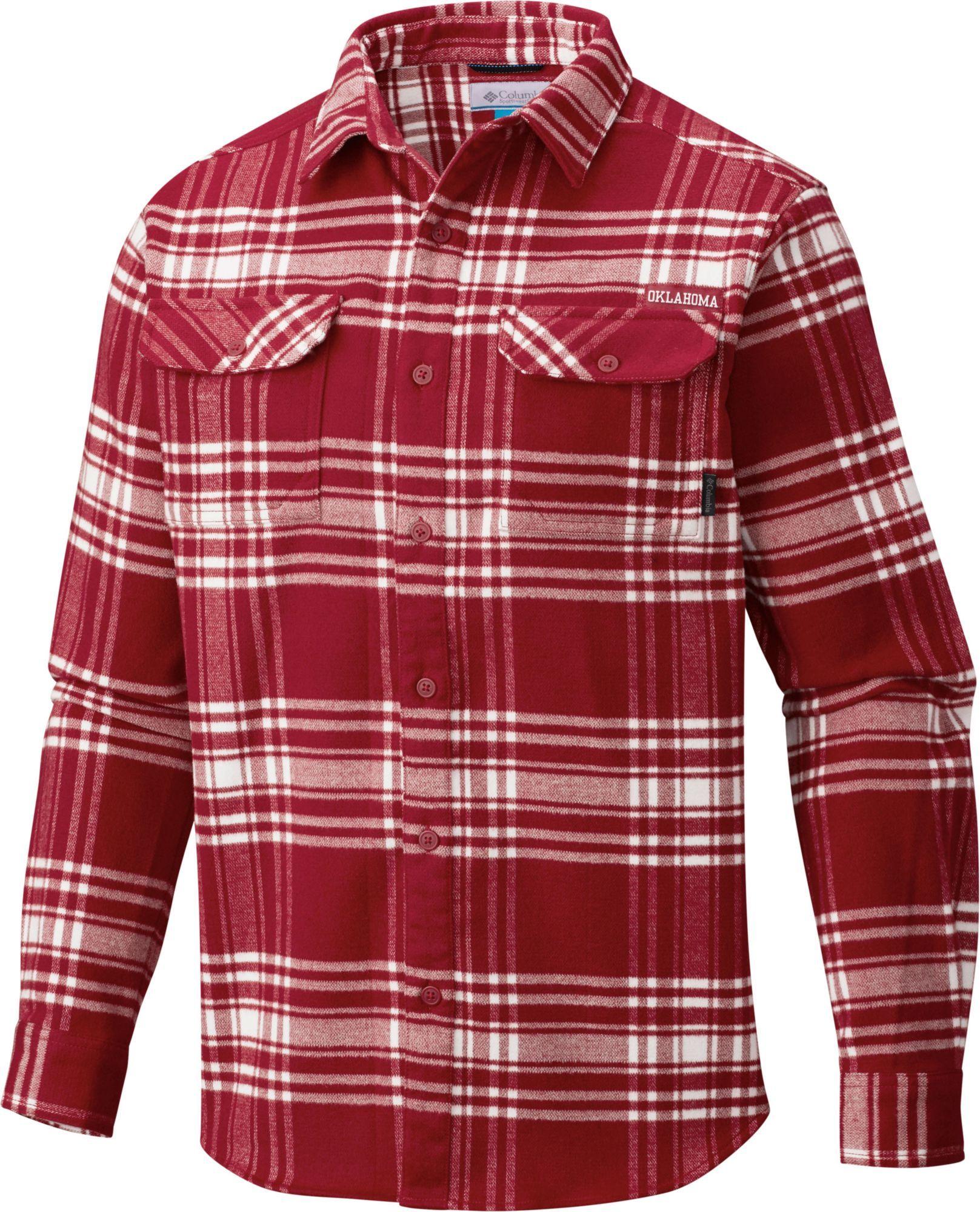 4c91462b3f0 Columbia Men's Michigan State Spartans Crimson/Cream Plaid Flare Gun  Flannel Long Sleeve Shirt, Multi