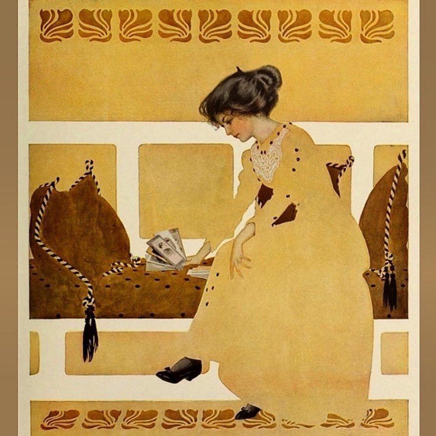 Vintage Illustration Gallery On Instagram Lizziemontgomerydesign Coles Phillips 1911 Colesphillips Negativespace Fadeawaygirl Edwardian Artnouv